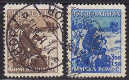 1247(7). Yugoslavia, 1935, Winter Help, Used (o) Michel 320-321 - Gebraucht