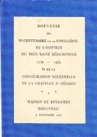 Haguenau  Maison De Retraites  1932 - Saisons & Fêtes