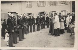 Photo Format CP Daté De 1948 Pompiers Et évêque Kruth Près Thann Et Mulhouse Et Colmar - Non Classés