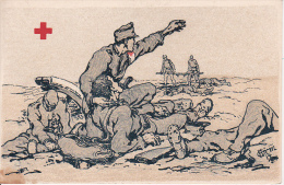 AK Noch Einmal Blickt Er Ins Blutige Feld... - Rotes Kreuz Tirol - Patriotika - 1. WK (13170) - Guerre 1914-18
