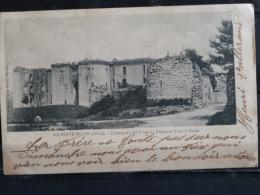 L4 - 02 - La ferte milon - Chateau du XIVeme siecles ruines et porte urbaine - 1904 - Cachet Mercin et Vaux