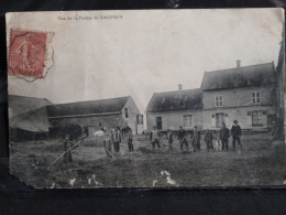 L4 - 02 - Vue de la ferme de Saconin - 1907 - etat defectueux