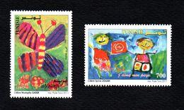 2011-Tunisia-Tunisie-Children's Drawings-Dessins D'Enfants (2 V.Set) (série Complète 2v) - Unclassified