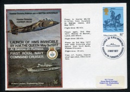GB 1977 Commemorative Cover Launch Of HMS Invincible Barrow In Furness (D143) - Marcophilie
