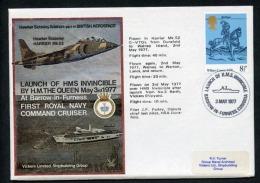 GB 1977 Commemorative Cover Launch Of HMS Invincible Barrow In Furness (D143) - Marcofilia
