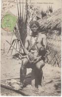 Senegal Diobas Femme Cerere-None, Semi-nude Woman With Infant Nursing, Postally Used C1900s Vintage Postcard - Senegal