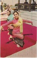 Nail Dance Of Northern Thailand, Woman Fashion Dancer, Postally Used C1960s Vintage Postcard - Thaïland