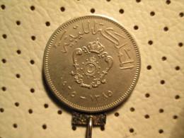 LIBYA 20 Milliemes 1965  # 1 - Libya
