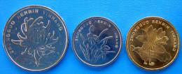 CINA REPUBBLICA POPOLARE (2002-2010) SERIE 3 MONETE 1-5 JIAO+1 YUAN FDC - Cina