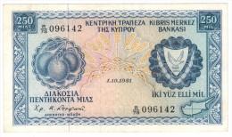 Cyprus, 100 Mil. 1981, XF! , RARE!  FREE SHIP. TO USA. - Cyprus