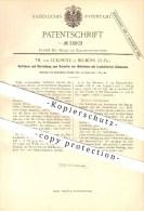Original Patent - Th. Von Lukowitz In Neumühl / Nowy Mlyn ,1884, Schärfen Von Mühlsteinen, Mühlen , Rastenburg / Ketrzyn - Ostpreussen