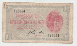 Seychelles 1 Rupee 1936 VG Pick 2f  2 F (King George V) - Seychellen