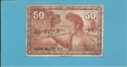 INDOCHINA - 50 CENTS - Sign. 14 ( 1939 ) - P 87d -  Gouvernement Général De L' Indochine - 2 Scans - Indochina
