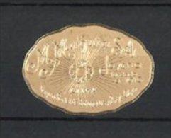 Reklamemarke Lima, M. Murguia SA, Joyeria Fundata En 1910, Strahlender Edelstein - Erinnophilie