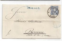 LETTRE De COLOGNE à BEAUNE - Octobre 1879 - Timbre Allemagne N° 33 - Marcophilie (Lettres)