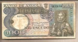 Angola - Banconota Circolata Da 1000 Scudi - 1973 - Angola