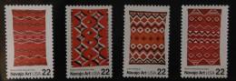 1986 USA Navajo Blanket Art Stamps Sc#2235-38 Indian Aboriginal Textile - Textile