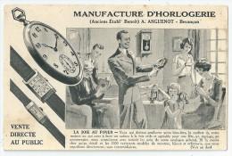 Cpa: 25 BESANCON Manufacture D'Horlogerie (Publicité) A. ANGUENOT (Montres) - Besancon