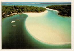 MAURIZIO  TROU-AUX-BICHES:  LA LAGUNA E LE SPIAGGIE     (NUOVA CON DESCRIZIONE DEL SITO SUL RETRO) - Mauritius