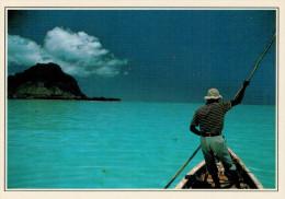 ISOLA DI MAURIZIO:   PESCA  NELLA  LAGUNA     (NUOVA CON DESCRIZIONE DEL SITO SUL RETRO) - Mauritius