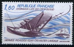 """FRANCE Aer56**  1,60f  Bleu Et Violet  Hydravion Laté 300 """"Croix Du Sud"""" - Posta Aerea"""
