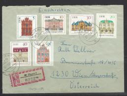 DDR  RECO - Beleg Mi-Nr. 1434 - 1439 Bedeutende Bauwerke - [6] Democratic Republic