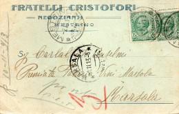 1913 CARTOLINA CON ANNULLO MESTRINO PADOVA DENTELLATURA SPOSTATA - Marcophilia