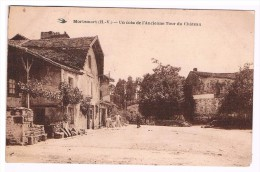 87 MORTEMART UN COIN DE L'ANCIENNE TOUR DU CHATEAU BELLE CARTE - Otros Municipios