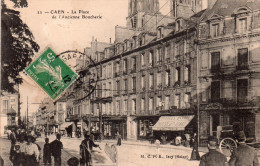 Cpa  14  Caen , La Place De L'ancienne Boucherie ..belle Animations - Caen