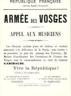 69 Rhone LYON ARMEE DES VOSGES Musée De L Affiche Et Du Tract Les Murailles De Lyon Pendant La Guerre De 1870 - Autres