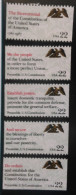 1987 USA Drafting Constitution Booklet Stamps #2355-59 Eagle - Other
