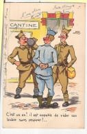 CP Cantine C´est Un As Il Est Capable De Vider Son Bidon Sans Respirer  Militaire Soldat Militaria Humoristique - Calendriers