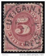Timbre Taxe Des Etats-Unis 1887 ' '  Yvert N° 11  ' '  5 C. Brun Carminé ( Cote YT : 35 € ) - Used Stamps