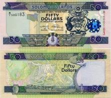 SOLOMON IS.         50 Dollars       P-29       ND (2008)       UNC  [ Sign. 9 ] - Salomons