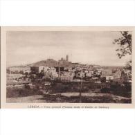 LRDTP8178-LFTD3513.Tarjeta Postal De Lerida.Arboles,campo.casas.casa,bloques De Pisos,iglesia.VISTA GENERAL DeLerida - Lérida