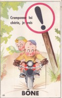 ALGÉRIE BÔNE    Carte Avec Dépliant De Vues Avec Moto - Annaba (Bône)