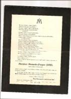 OCQUEVILLE CANY DECES DE ALEXANDRE PROSPER SOREL ANCIEN MAIRE D'OCQUEVILLE LE 26 DECEMBRE 1936 - Décès