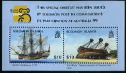 Salomon Solomon Islands 1999 Yvertn° Bloc 54 *** MNH Cote 15 Euro Bateaux Ships Boten - Salomon (Iles 1978-...)