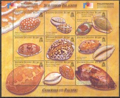 Salomon Solomon Islands 2002 Yvertn° 996-1004 *** MNH Cote 9 Euro Philakorea  Schelpen - Salomon (Iles 1978-...)