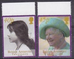 British Antarctic Territory 2002 Queen Mother 2v ** Mnh (20470) - Brits Antarctisch Territorium  (BAT)