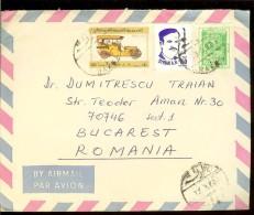 Syria, Cover,  Air Mail, 1982, Car, Auto - Syria