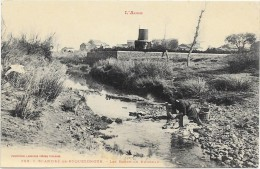 SAINT ANDRE DE ROQUELONGUE  Cpa(11)  Les Bords Du Ruisseau  (Légende En Lettres Rouges) - France