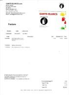 Franc Maçon Maçonnerie - Facture De La Firme Gants Blancs Com à Oursbelille Avec Carte De Visite - Textile & Vestimentaire