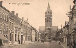 BELGIQUE - FLANDRE OCCIDENTALE - AVELGHEM - Kerk En Marktplaats - Eglise Et Grand'Place. - Avelgem