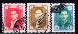 IR+ Iran 1956 Mi 981 983 986 Schah Reza Pahlevi - Iran