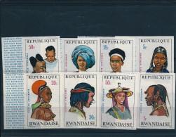 RWANDA : N�408/415 ** ND imperf. - 1971 - COTE :15,00�