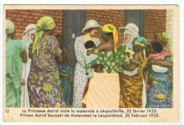 Chromo : Troisième Série Reine Astrid (24 Sujets Différents)  Côte D'or - N°12 Visite Maternité à Léopoldville(chocolat) - Belgique
