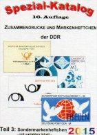 DDR-Katalog Teil 3 RICHTER Sonder-Markenheftchen 2015 New 25€ SMH+Abarten Booklet And Error Special Catalogue Of Germany - Boeken, Tijdschriften, Stripverhalen