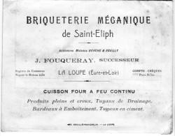 28 - LA LOUPE - Briqueterie De Saint Eliph Cuisson à Feu Continue - Carte De Visite De 1927 - Cartes De Visite