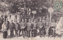 VILLERUPT - 54 - DOUANES - DOUANIERS - MILITAIRES - SOLDATS ET GENDARMES FRANCAIS - GENDARMES ALLEMANDS - ANIMATION - Douane
